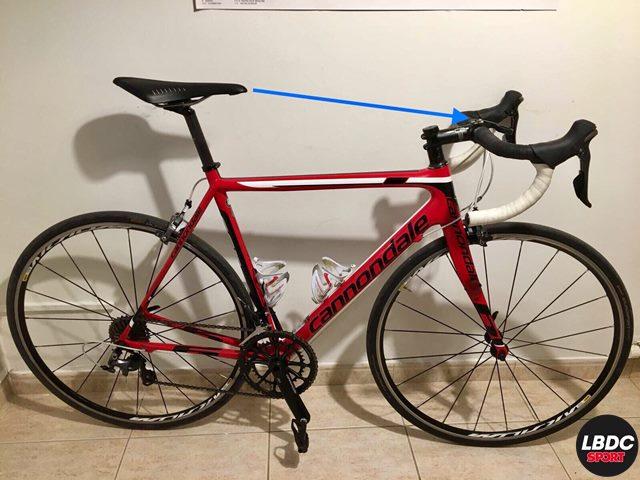 Medir la distancia que existe entre la punta del sillín y el centro del manillar. de la bicicleta