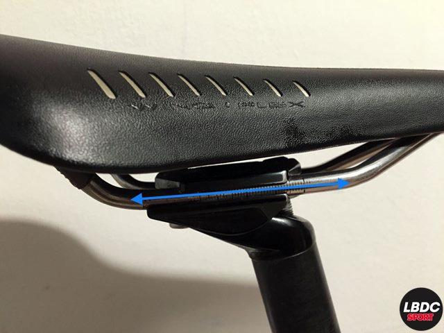 retroceso del sillín de la bici