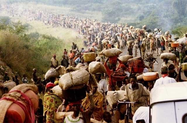 Refugiados durante el genocidio de Ruanda