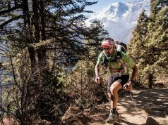 Jordi Gamito, durante la Everest Trail Race / Everest Trail Race