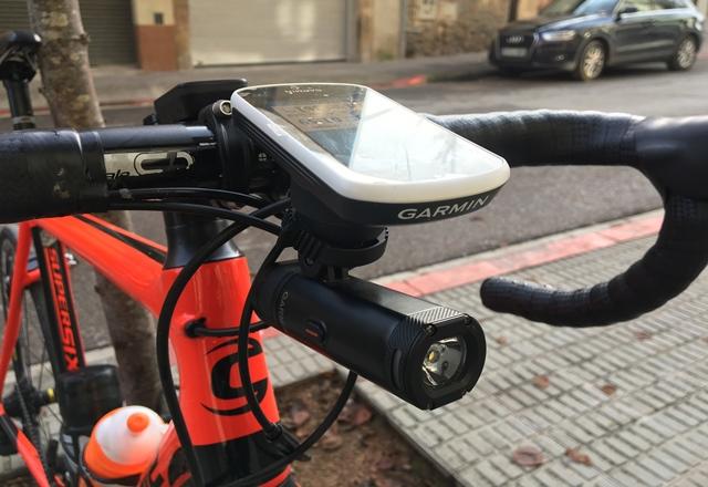 funcionamiento luz ciclismo garmin