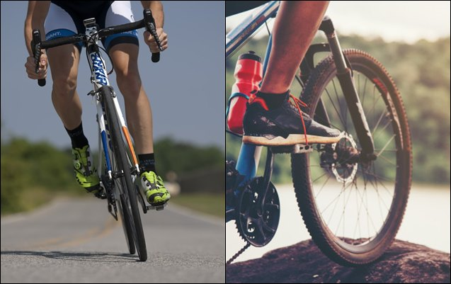 ciclismo de carretera o MTB portada bicicleta de carretera o mtb