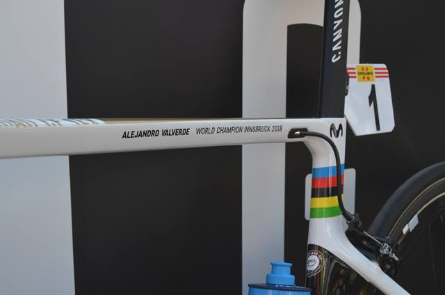 Alejandro Valverde wolrd champion bike canyon aeroroad