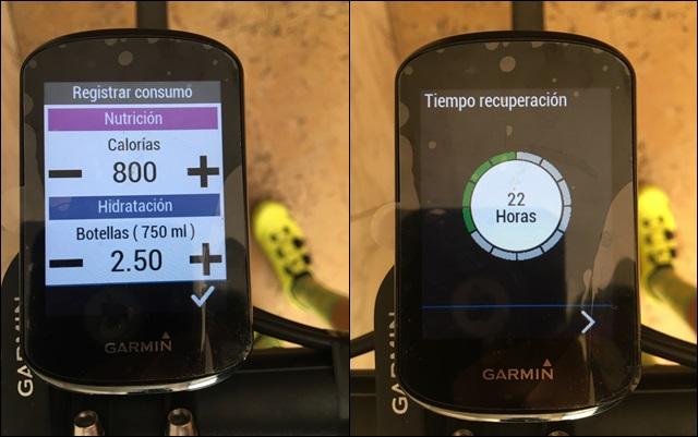 control recuperacion garmin ciclismo