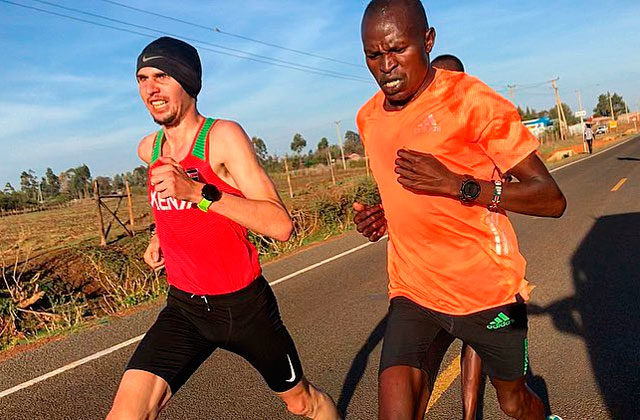 Julien Wanders, training in Kenya
