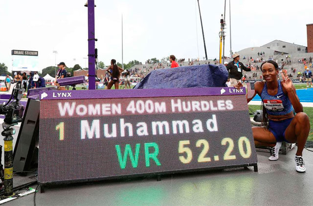 Muhammad, proud posing with her brand / AFP