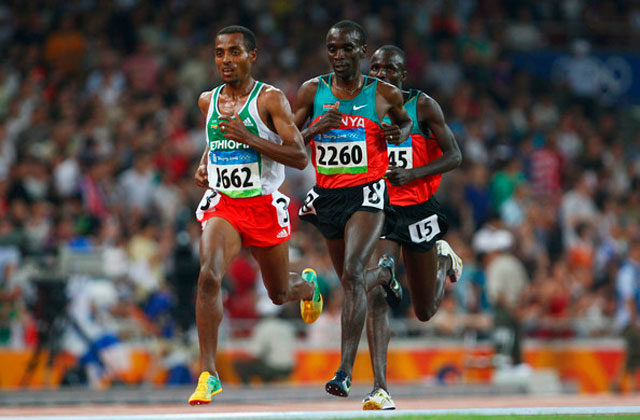 Bekele and Kipchoge, in a file image