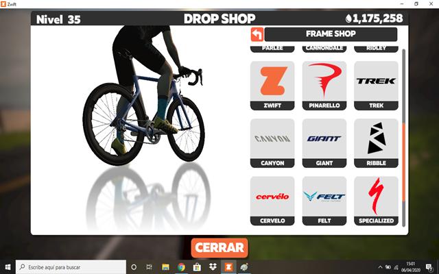 """buy bikes at zwift """"width ="""" 640 """"height ="""" 400 """"srcset ="""" https://www.sport.es/labolsadelcorredor/wp-content/uploads/2020/04/comprar-bicicletas-en-zwift.png 640w , https://www.sport.es/labolsadelcorredor/wp-content/uploads/2020/04/comprar-bicicletas-en-zwift-320x200.png 320w """"sizes ="""" (max-width: 640px) 100vw, 640px"""