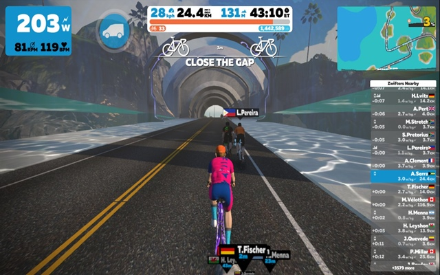ride on zwift