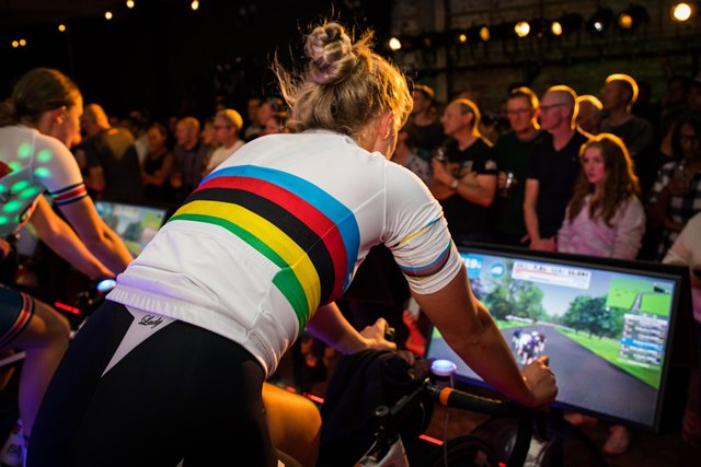 Indoor cycling world zwift