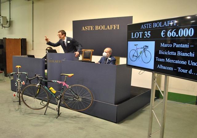 Bicicleta marco pantani 60000 euros
