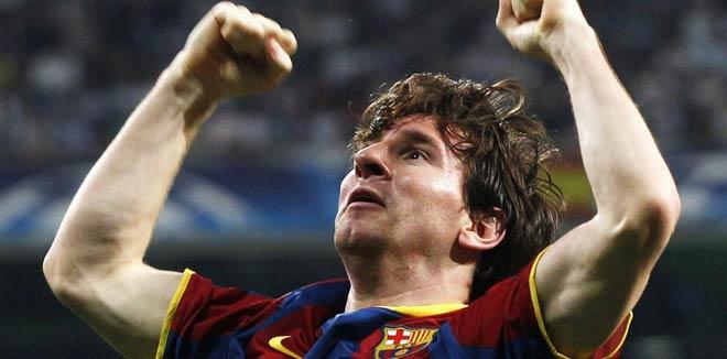 Leo Messi, autor dels dos gols del Madrid-Barça de semis