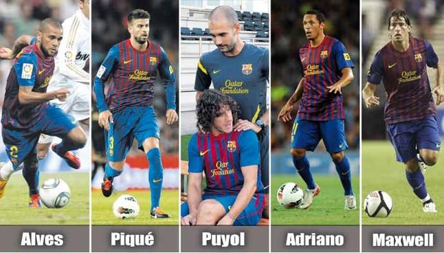 El Barça tendrá bajas importantes ante el