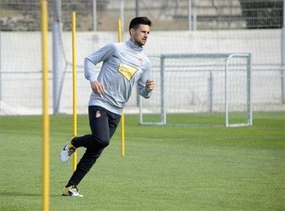 Javi Márquez, durante un entrenamiento