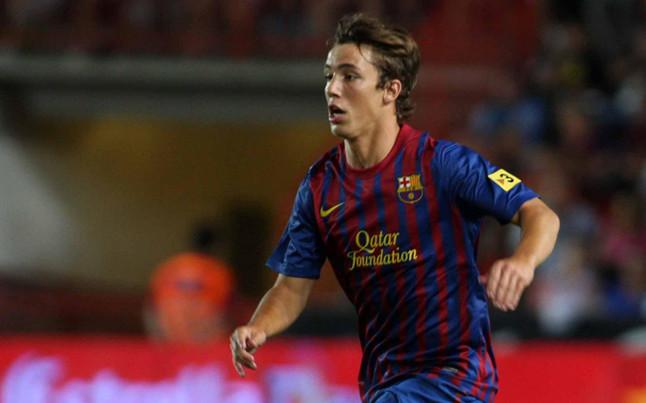 Grimaldo, 15 ans, avec le Barça B